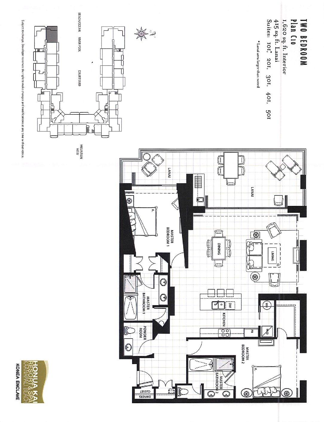 honua kai floor plans
